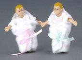 Набор из двух малышей, блондины, кукольная миниатюра 1:12 (Dollhouse), Premium арт. 00002 (P%)