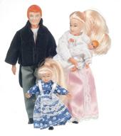 Victorian семья из 4 кукол, блондины, кукольная миниатюра 1:12 (Dollhouse), Premium арт. 00040 (Pr)