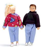 Набор из 2 подростков, кукольная миниатюра 1:12 (Dollhouse), Premium арт. 00065 (P%)