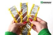 Цветочные ленты для макета. Желтые соцветия., Morrison арт. 004-lc-003 (Mr)