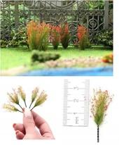 """Цветущие растения для диорамы """"Красные соцветия"""", 5 шт., Morrison арт. 004-pcv-002 (mm)"""