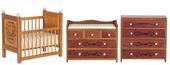 Мебель для детской, 3 предмета, цвет орех, кукольная миниатюра 1:12 (Dollhouse), Premium арт. 05089 (Pa)