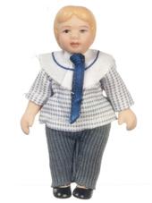 Кукла мальчик, 7,3 см, кукольная миниатюра 1:12 (Dollhouse), Premium арт. 06820 (Pr)