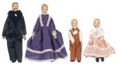 Victorian семья из четырех кукол, 15,2 / 14 / 7,3 / 7,9 см, кукольная миниатюра 1:12 (Dollhouse), Premium арт. 06821 (Pr)