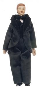 Victorian мужчина в костюме 15,2 см, кукольная миниатюра 1:12 (Dollhouse), Premium арт. 06822 (Pa)