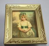 """Постер в раме, Джон Хоппнер """"Мисс Шарлота"""",6,5х5 см, миниатюра 1:12 (Dollhouse), Dollsmini арт. 01.00109/5 (dh)"""