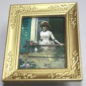 """Постер в раме, Л.Ж. Рафаэль Коллин """"Утро"""",6,5х5 см, миниатюра 1:12 (Dollhouse), Dollsmini арт. 01.00103/5 (dh)"""