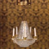 Люстра в викторианском стиле на батарейке, LED, 6 *3 *1  см, кукольная миниатюра 1:12 (Dollhouse), Emporium арт. 1462 (S%)