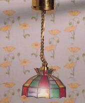 Люстра Тиффани, LED, кукольная миниатюра 1:12 (Dollhouse), Emporium арт. 1542 (Sa)