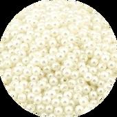 Бусины круглые перламутр 30 шт., 4 мм, цвет молочный, миниатюра 1:12 (Dollhouse), Dollsmini арт. 01.0169/5 (dh)