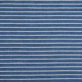 Ткань джинс Полоска 130г/м? 60% хлопок, 40% полиэстер арт.1809-9 цв.2 т.голубой/белый уп.50х50см упак (1 упак), фурнитура для игрушек арт. 1809-9 (mg)