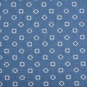 Ткань джинс Ромб 130г/м? 60% хлопок, 40% полиэстер арт.1811-31 цв.2 т.голубой/цветной уп.50х50см упак (1 упак), фурнитура для игрушек арт. 1811-31 (mg)