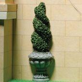 Куст в кадке в форме спирали, пристенный, 10,2 см, кукольная миниатюра 1:12 (Dollhouse), Emporium арт. 2938 (mm)