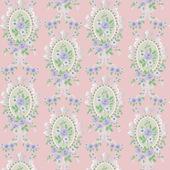 Обои розового цвета с цветочным узором, 43х60 см, кукольная миниатюра 1:12 (Dollhouse), Emporium арт. 4510 (mm)
