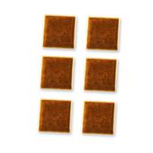 Керамическая плитка, коричневая, 6 шт., кукольная миниатюра 1:12 (Dollhouse), Reutter Porzellan арт. 01.507/9 (Az7)