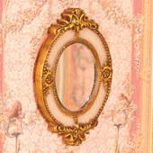 Зеркало в овальной раме, 9х5,5 см, кукольная миниатюра 1:12 (Dollhouse), Emporium арт. 5130 (mm)