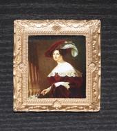 """Постер в раме, Дж.Хейтер """"Портрет Елизаветы Ксаверьевны Воронцовой"""", 7,5х6 см, кукольная миниатюра 1:12 (Dollhouse), Dollsmini арт. 01.0562/5 (dh)"""