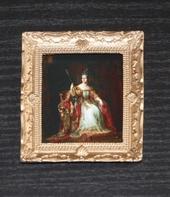 """Постер в раме, Дж.Хейтер """"Королева Виктория"""", 7,5х6 см, кукольная миниатюра 1:12 (Dollhouse), Dollsmini арт. 01.0563/5 (dh)"""
