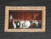 """Постер в раме, Дж.Хейтер """"Бракосочетание королевы Виктории и принца Альберта"""", 7,5х5,3 см, кукольная миниатюра 1:12 (Dollhouse), Dollsmini арт. 01.0565/5 (dh)"""