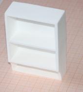 Полка, 8,8*6,4*2,6 см, пластик, кукольная миниатюра 1:12 (Dollhouse), Dollsmini арт. 01.0934/4_36 (mm)