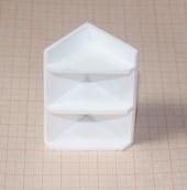 Полка угловая, 3,7*3,4*6,6 см, пластик, кукольная миниатюра 1:12 (Dollhouse), Dollsmini арт. 01.0938/4_20 (mf)
