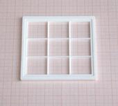 Окно, 9,1*9,1 см, пластик, кукольная миниатюра 1:12 (Dollhouse), Dollsmini арт. 01.0940/4_10 (mf)