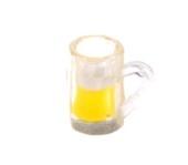 Кружка со светлым пивом, 1,4 см, кукольная миниатюра 1:12 (Dollhouse), Dollsmini арт. 01.0992/3 (mm)
