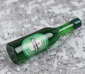 Бутылка пиво Heineken, 3,3 см, кукольная миниатюра 1:12 (Dollhouse), Dollsmini арт. 01.0994/3 (mm)
