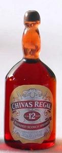 Бутылка темная, виски Chivas Regal, 3,2 см, кукольная миниатюра 1:12 (Dollhouse), Dollsmini арт. 01.0996/3 (mm)