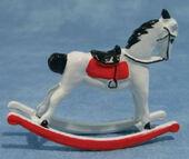 Лошадка-качалка, 7,7х4х10 см, кукольная миниатюра 1:12 (Dollhouse), Streets Ahead арт. D044 (mm)