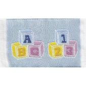 """Коврик для детской """"Кубики"""", голубой, 4,5х7 см, кукольная миниатюра 1:12 (Dollhouse), Streets Ahead арт. D1572B (mm)"""