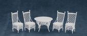 Набор мебели для сада, металл, 4 предмета, кукольная миниатюра 1:12 (Dollhouse), Premium арт. EIWF209 (mm)