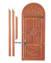 Victorian Manor резная дверь, 20,6(в)х9,5(ш) см, клен, кукольная миниатюра 1:12 (Dollhouse), JBM Miniatures арт. JJD31064GO (Az5)