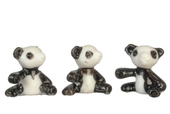 Мини панда, 1,7 см, 1 шт., кукольная миниатюра 1:12 (Dollhouse), Premium арт. MA1298 (mm)
