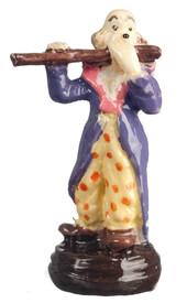 Мини статуэтка Клоун со флейтой, 2,4 см, кукольная миниатюра 1:12 (Dollhouse), Premium арт. A4208 (Az)