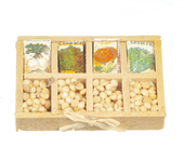 Лоток с семенами, 3х4,5 см, кукольная миниатюра 1:12 (Dollhouse), Premium арт. B1583 (mm)