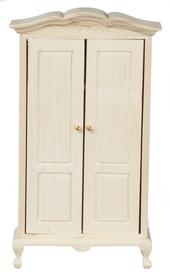 Платяной шкаф, неокрашенное дерево, кукольная миниатюра 1:12 (Dollhouse), Premium арт. CL08691 (mm)