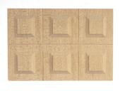 Стеновая панель, 5х7,5х0,2 см, 1 шт., дерево, кукольная миниатюра 1:12 (Dollhouse), Premium арт. CL71071 (Az3)