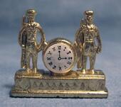 Часы каминные, металл, 3х5 см, кукольная миниатюра 1:12 (Dollhouse), Streets Ahead арт. D1660 (mm)