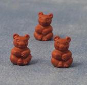 Игрушка Медведь, коричневый, 1 шт., кукольная миниатюра 1:12 (Dollhouse), Babettes арт. D75064 (mm)