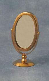 Зеркало круглое, кукольная миниатюра 1:12 (Dollhouse), Babettes арт. D81431 (mm)