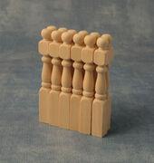 Балясины, 9,2*1*1 см, 12 шт., кукольная миниатюра 1:12 (Dollhouse), Babettes арт. DIY95623 (mm)