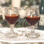 Бокал с красным вином, 2 шт., кукольная миниатюра 1:12 (Dollhouse), Emporium арт. 2156 (mm)