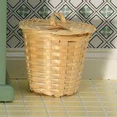 Корзина для белья с крышкой , кукольная миниатюра 1:12 (Dollhouse), Emporium арт. 3610 (mm)