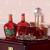 Графин с пробкой, 2 бокала, кукольная миниатюра 1:12 (Dollhouse), Emporium арт. 3900 (mm)