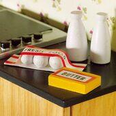 Яйца, две бутылки молока, сливочное масло , кукольная миниатюра 1:12 (Dollhouse), Emporium арт. 4872 (mm)