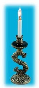 12V, настольная лампа, 1 свеча, кукольная миниатюра 1:12 (Dollhouse) ,VEGA MINI арт. FA11088 (Az5)