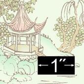 Обои Pagoda, 29х45,5 см, кукольная миниатюра 1:12 (Dollhouse), Brodnax Prints арт. 1FL140  (Az)