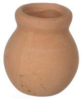 Глиняный горшок, 2 см, кукольная миниатюра 1:12 (Dollhouse), Premium арт. IM65022 (mm)