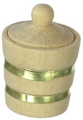Бочонок с крышкой, кукольная миниатюра 1:12 (Dollhouse), Premium арт. IM65310 (mm)